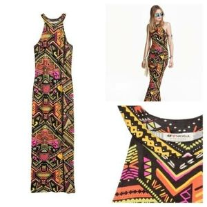 H&M x Coachella Tribal Print Maxi Dress Size 2